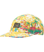 Obey Maui Yellow 5 Panel Hat