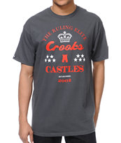 Crooks and Castles The Ruler Charcoal Tee Shirt
