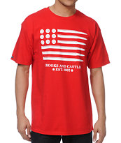 Crooks and Castles Ammo Flag Red Tee Shirt