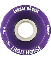 Iron Horse The Funner Purple 60mm Longboard Wheels