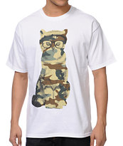 A-Lab Mash Cat White Tee Shirt