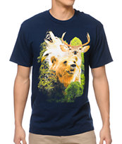 A-Lab Forest Creatures Navy Tee Shirt