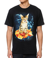 A-Lab Galactic Nacho Cat Black Tee Shirt