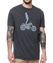 Roark Ghost Rider Heather Charcoal Tee Shirt
