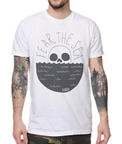Roark Fear The Sea White Tee Shirt