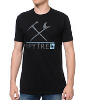 Hippy Tree Icon Tee Black Tee Shirt