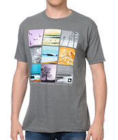 Hippy Tree Frame Tee Grey Tee Shirt