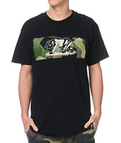 Primitive Bear Camo Black Tee Shirt