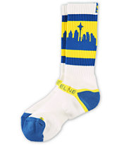 Strideline Classic SeaTown Throwback Ms Crew Socks