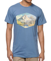 Spacecraft Mountain Blue Tee Shirt