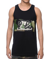 Primitive Bear Camo & Black Tank Top
