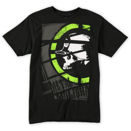 Metal Mulisha Boys Cropped Black Tee Shirt