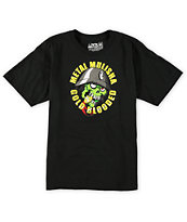 Metal Mulisha Boys Eyegore Gold Black Tee Shirt