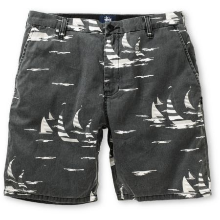 Stussy Sailing Black Print Chino Shorts