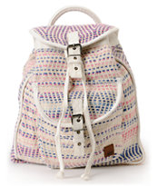Roxy Drifter Cream & Pink Rucksack Backpack