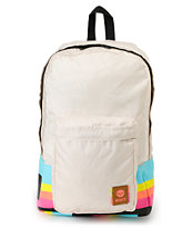 Roxy Musing Cream & Stripe Backpack