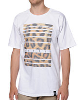 Group Fly Wild Leopard Print White Tee Shirt