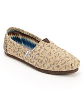 Toms Classics Tan Snow Leopard Slip On Shoe