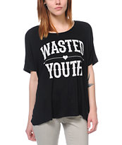 Lira Wasted Black Oversized Tee Shirt