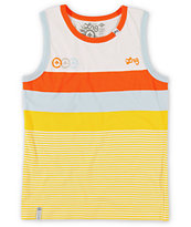LRG Boys Sporty White & Yellow Tank Top