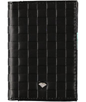 Diamond Supply Check Black Embossed Bifold Wallet