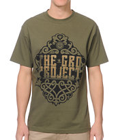 The Gro Project Nouveau Dark Green Tee Shirt