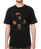 Odd Future Loiter Squad Faces Black Tee Shirt