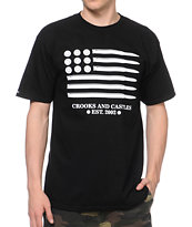 Crooks and Castles Ammo Flag Black Tee Shirt