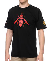Crooks and Castles x SSUR Stinger Black Tee Shirt