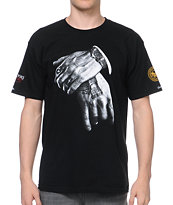 Crooks and Castles x SSUR Hands Off Black Tee Shirt