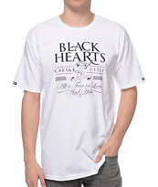 Crooks and Castles Black Hearts White Tee Shirt