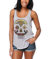 Volcom Girls Renne Skull Grey Tank Top
