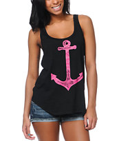Volcom Girls Renne Anchor Black Tank Top