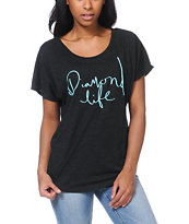 Diamond Supply Girls Diamond Life Charcoal Dolman Top