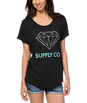 Diamond Supply Co. Charcoal Dolman Top
