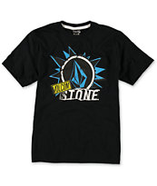 Volcom Boys Pasted Black Tee Shirt