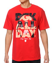 DGK All Day Van Styles Red Tee Shirt