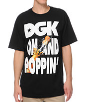 DGK On And Poppin Black Tee Shirt