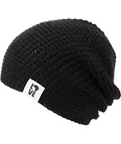 Krochet Kids 5207.5 Black Washed Slouchy Beanie