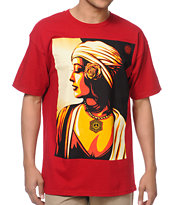 Obey Harmony Red Tee Shirt