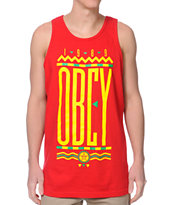 Obey Colours Red Tank Top