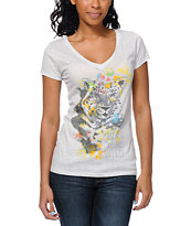 Empyre Girls Prowl Natural V-Neck Tee Shirt