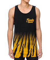 Popular Demand Tiger Fade Black & Gold Tank Top