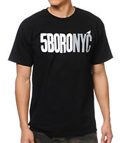 5BORO Letterpress Black Tee Shirt