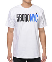 5BORO Letterpress White Tee Shirt