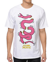 5BORO Pop Art Join Or Die White Tee Shirt
