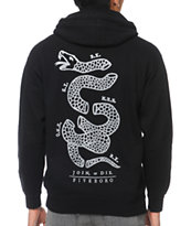 5BORO Join Or Die Black Zip Up Hoodie