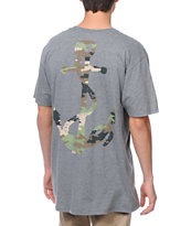 Glamour Kills Camo Anchor Grey Tee Shirt