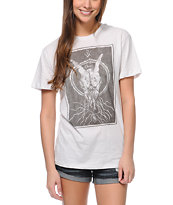 Obey Ghost Skull Natural Tomboy Tee Shirt