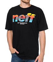 Neff Numeral Native Print Black Tee Shirt